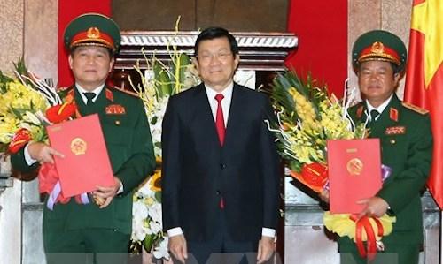 Chủ tịch nước phong hàm thêm hai đại tướng 1