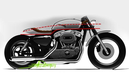 Biến Harley-Davidson Sportster thành Cafe racer 2