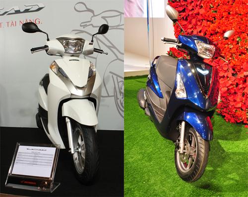 Honda Lead và Yamaha Acruzo - cuộc chiến xe tay ga mới tại Việt Nam 1