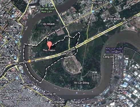 2.000 tỷ đồng xây bờ kè bao quanh khu đô thị mới Thủ Thiêm 1