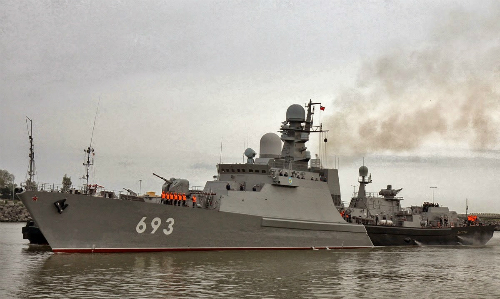 Đội tàu phóng tên lửa hành trình diệt IS của Nga 1
