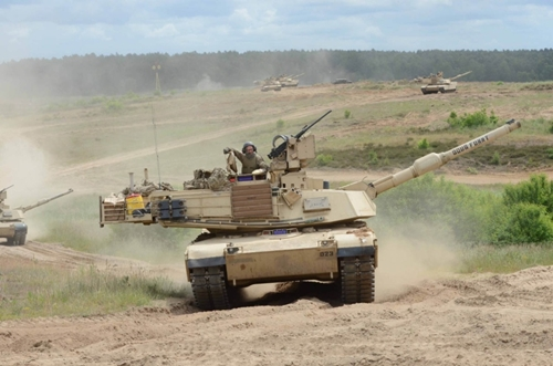 Abrams tanks from the U.S. Army