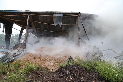 Cháy kho gỗ trong khu công nghiệp ở Quảng Trị 2