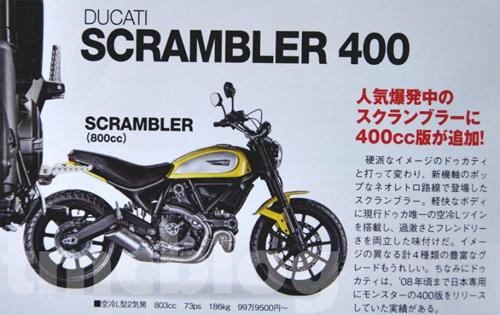 Ducati Scrambler 400 sắp xuất hiện 1