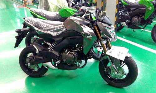Ảnh đầu tiên của Kawasaki Z125 - đối thủ Honda MSX 125 1
