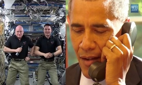 Obama gọi điện lên Trạm Vũ trụ Quốc tế