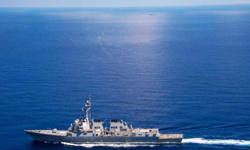 Vì sao Trung Quốc dùng tàu hải quân bám tàu Mỹ ở Trường Sa 1