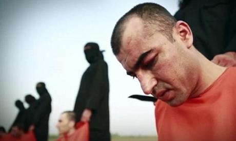 10 tay súng người Kurd bị Nhà nước Hồi giáo hành quyết hồi đầu tháng. Ảnh: National Helm.