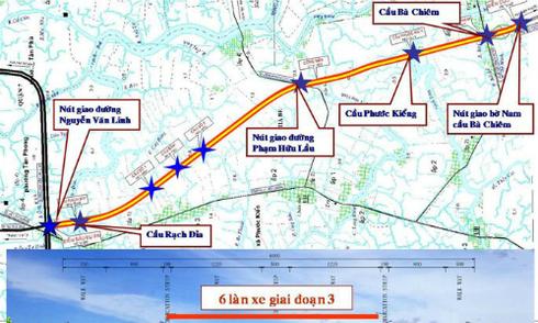 8.500 tỷ đồng làm đường trục Bắc - Nam ở TP HCM