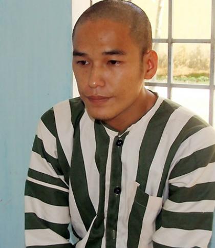 Trần Đình Thoại bị bắt sau một tháng vụ án mạng xảy ra. Ảnh: Khánh Vinh