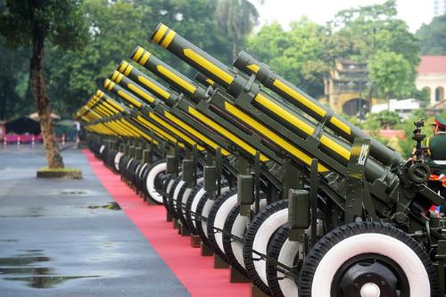 Nghi thức bắn 21 phát đại bác đón nguyên thủ quốc gia 1