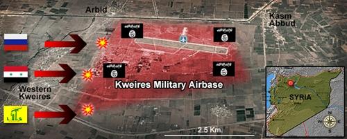 Vị trí căn cứ Kweiras. Đồ họa: Debka.