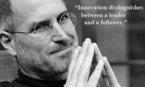 Innovation distinguishes between a leader and a follower. ( Steve Jobs )