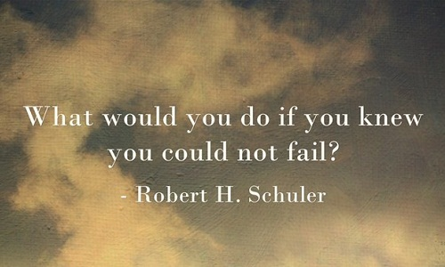 What would you do if you knew you could not fail? (Robert H Schuller)