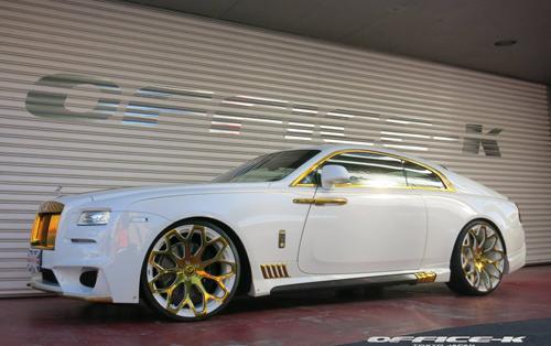 Coupe siêu sang Rolls-Royce Wraith mạ vàng hàng độc 1