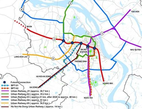"""Hai tuyến đường sắt đô thị Hà Nội vẫn """"dậm chân tại chỗ"""" 2"""