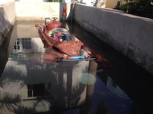 Tàu ngầm Hoàng Sa sẽ được sơn màu xanh 1