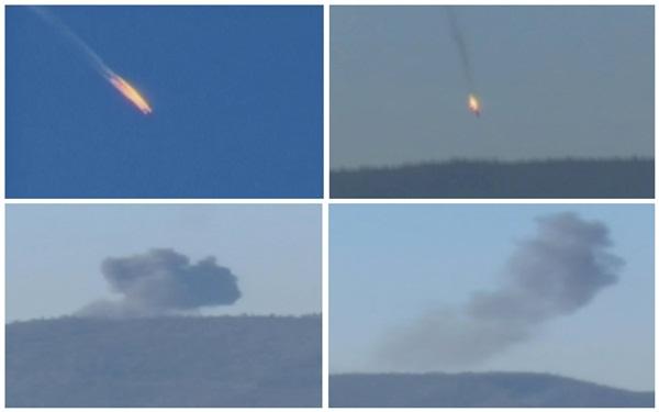Ảnh ghép cho thấy quá trình máy bay rơi. Ảnh: Reuters