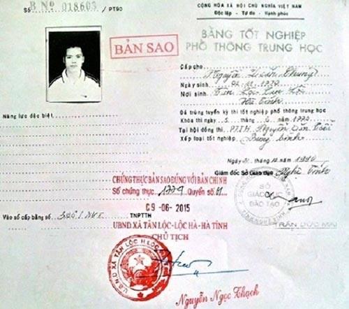 Trưởng công an xã sử dụng bằng giả nộp đơn xin thôi việc 1