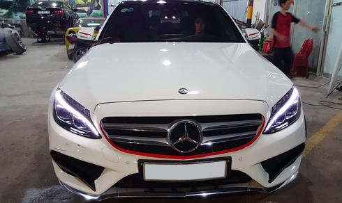 """Mercedes C250 AMG """"hóa trang"""" thành C63 Edition 1 ở Sài Gòn 1"""