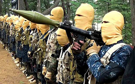 Các tân binh của IS đang được huấn luyện tại trạiJalaluddin Haqqani. Ảnh:longwarjournal