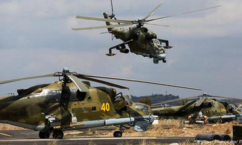 Nga điều trực thăng tấn công gần biên giới Thổ Nhĩ Kỳ