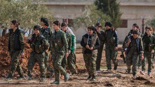 YPGhơn 400 chiến binh ngoại quốc. Ảnh: AP