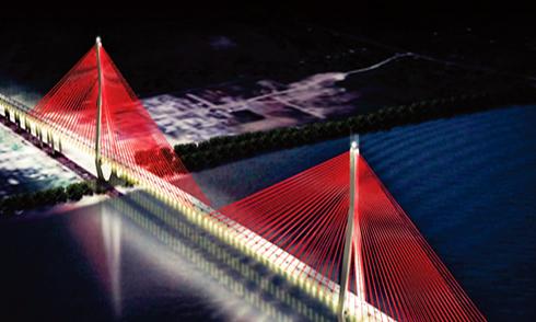 Cầu Cần Thơ được lắp dàn đèn nghệ thuật 30 tỷ đồng
