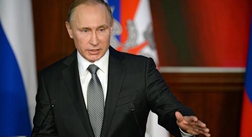 Tổng thống Nga Vladimir Putin trong cuộc họp hôm qua. Ảnh: Sputnik