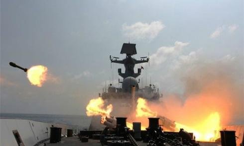 Hải quân Trung Quốc tập trận bắn đạn thật ở Biển Đông