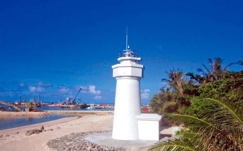 Hải đăng Đài Loan xây dựng trái phép ở đảo Ba Bình. Ảnh: udn.com