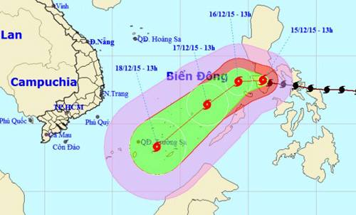 Bão Melor không ảnh hưởng đến đất liền Việt Nam 1