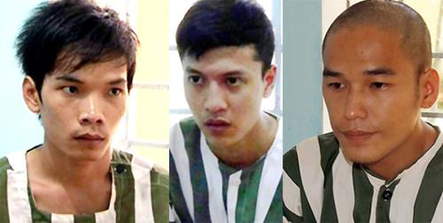 Tiến, Dương và Thoại bị truy tố trong vụ giết 6 người trong căn biệt thự. Ảnh: Khánh Vinh.