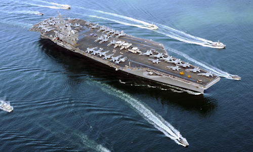 Tàu ngầm Trung Quốc khóa mục tiêu tên lửa vào tàu sân bay Mỹ 1