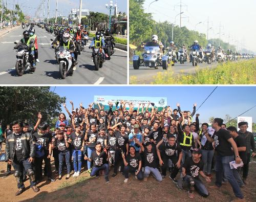 """Hơn 1.350 biker tham gia hành trình """"Rev Up For Lives"""" 2"""