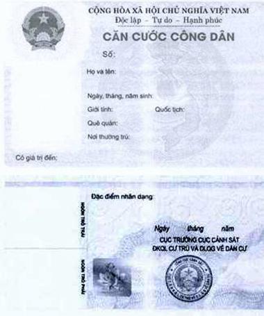 Thẻ căn cước công dân được cấp như thế nào từ năm 2016 1