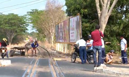 Truyền hình trực tiếp vô tình ghi hình tai nạn giao thông 1