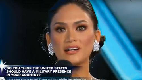 Vì sao phát ngôn về quân đội Mỹ của Hoa hậu Hoàn vũ gây tranh cãi 1