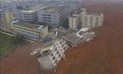 Cảnh lở đất chôn vùi 33 tòa nhà ở Trung Quốc