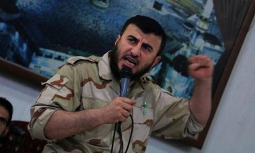 Zahran Alloush, chỉ huy nhóm nổi dậy Jaysh al-Islam, thiệt mạng trong một đợt không kích hôm qua. Ảnh: AFP..