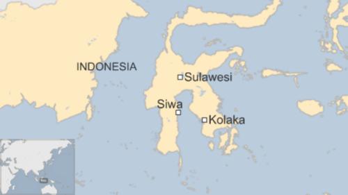 Vị trí tỉnh Sulawesi. Đồ hoạ: BBC