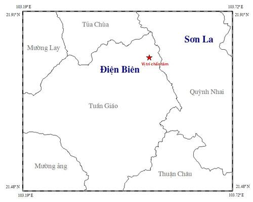 Động đất 3,7 độ richter ở Điện Biên 1