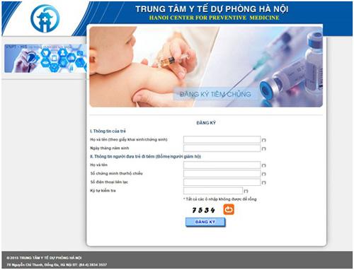 Nghẽn mạng trang web đăng ký tiêm văcxin Pentaxim 1