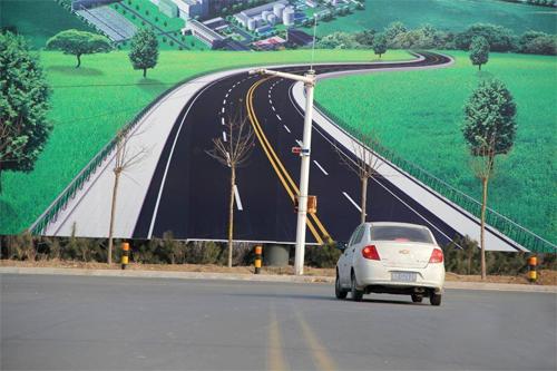 Tranh 3D về đường đi có thể gây tai nạn 1