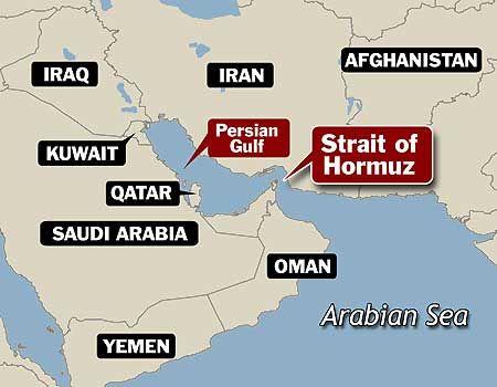 Vị trí eo biển Hormuz. Đồ hoạ: mycontinent