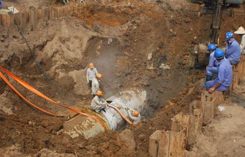 Đường ống nước sông Đà gặp sự cố lần thứ 17 1