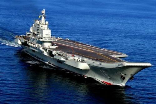 Tàu sân bay Liêu Ninh của Trung Quốc. Ảnh: AP