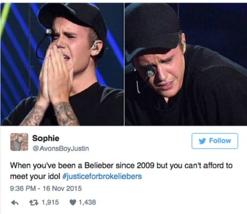 Đây không phải là số tiền người hâm mộ bỏ ra để chụp ảnh cùng thần tượng, mà là số tiền họ phải trả để có được vị trí ghế vip - nơi có thể xem trực tiếp màn biểu diễn của Justin Bieber và chụp ảnh 'tự sướng' cùng nam ca sĩ.