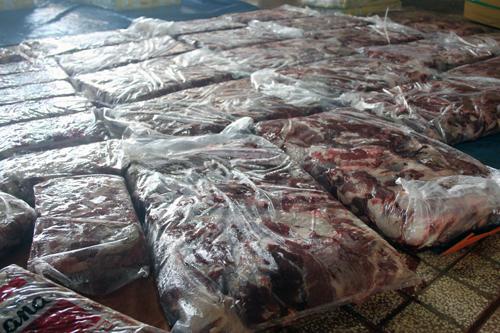 3 tấn thịt trâu tẩm hóa chất để chế biến bò kho 1