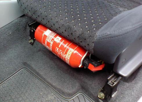 Người sử dụng lo lắng về vị trí gắn bình chữa cháy trên ôtô 2